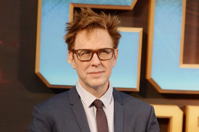 American director James Gunn attends the premiere of Guardians Of The Galaxy Vol. 2 at Eventim Apollo in London on April 24, 2017. Gunn is attached to write and develop a television reboot of the 1970s detective series Starsky and Hutch for Sony Pictures Television.
