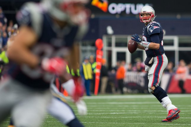 Tom Brady and the New England Patriots pay a visit to the Oakland Raiders on Sunday. Photo by Matthew Healey/UPI