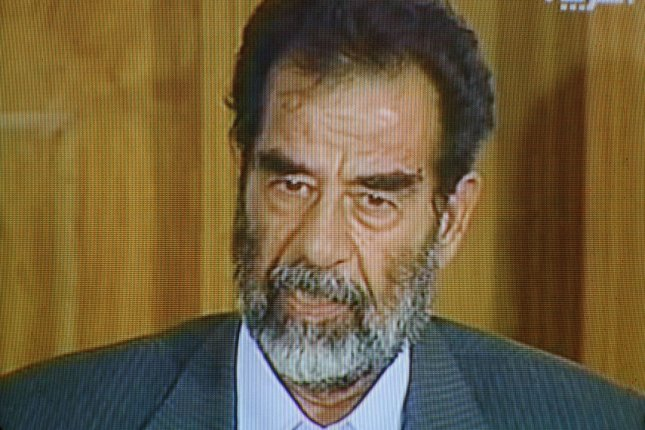 On December 13, 2003, Saddam Hussein, the deposed Iraqi president, was captured by U.S. troops in a small underground hideout southeast of his hometown of Tikrit. File Photo by Ali Khaligh/UPI