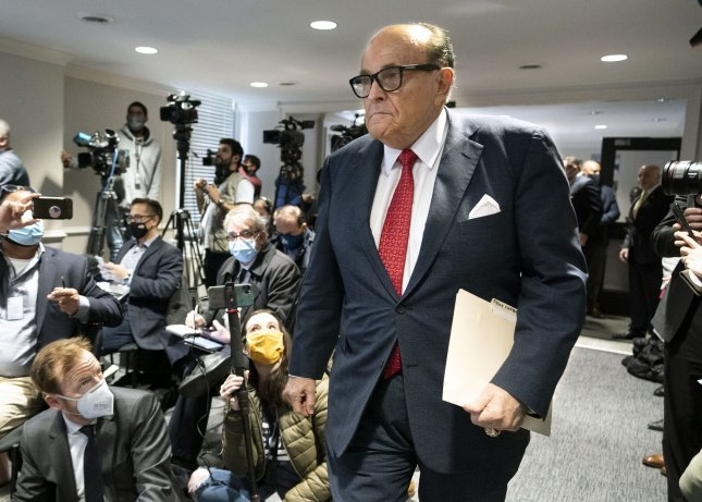 The New York State Bar Association announced Monday that it has opened an inquiry into removing President Donald Trump's personal lawyer Rudy Giuliani from its rolls. Photo by Kevin Dietsch/UPI