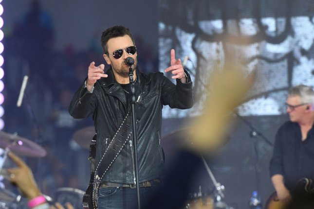 Eric Church performs during halftime of the Dallas Cowboys and Washington Redskins game at AT&T Stadium on November 24, 2016, in Arlington, Texas. The country singer turns 44 on May 3. File Photo by Ian Halperin/UPI