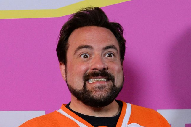 Director Kevin Smith attends the premiere of the romantic horror comedy motion picture Life After Beth at Theatre at Ace Hotel in Los Angeles on August 8, 2014. Storyline: A young man's recently deceased girlfriend mysteriously returns from the dead, but he slowly realizes she is not the way he remembered her. UPI/Jim Ruymen