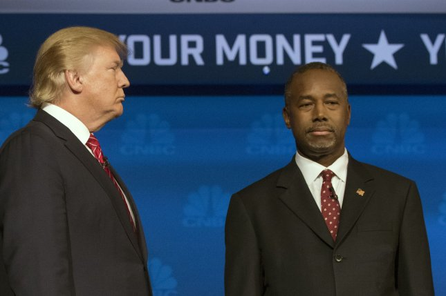 Ben Carson threatens that Donald Trump may not be the only presidential hopeful in danger of leaving the GOP. Photo by Gary C. Caskey/UPI