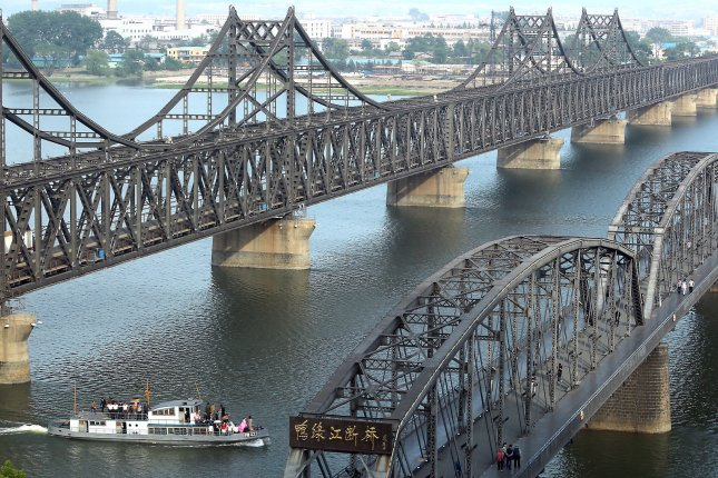 Trade between China and North Korea has increased and there are estimated to be 30,000 North Korean laborers in the Chinese city of Dandong, according to a recent report. File Photo by Stephen Shaver