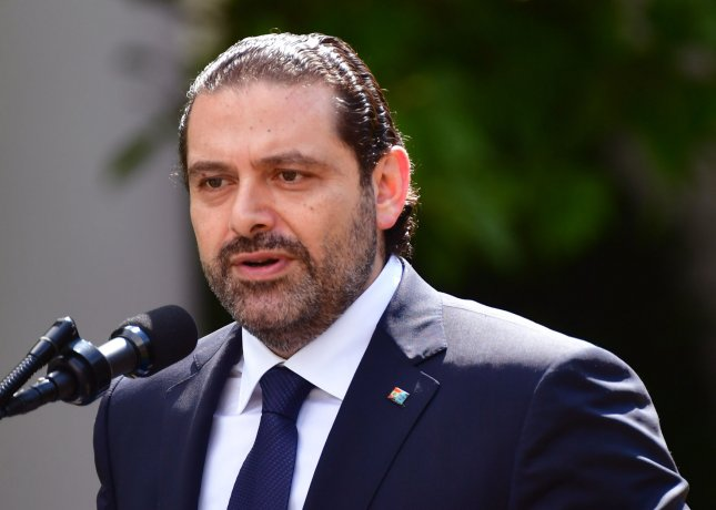 Lebanon's Prime Minister Saad Hariri said he plans to return to Lebanon very soon after resigning from office while in Saudi Arabia last week. Photo by Kevin Dietsch/UPI