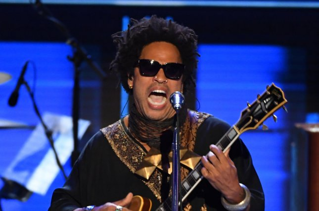 Lenny Kravitz performs his hit song Let Love Rule during Day 3 of the Democratic National Convention at the Wells Fargo Center in Philadelphia on July 27, 2016. The singer turns 54 on May 26. File Photo by Pat Benic/UPI