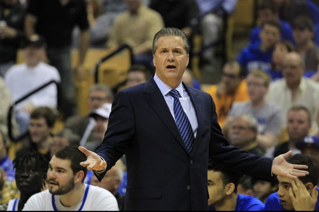 Kentucky Wildcats head coach John Calipari. Photo by Bill Greenblatt/UPI