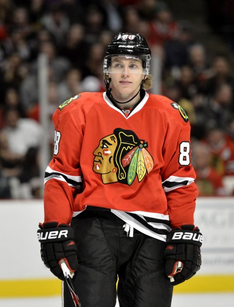 Patrick Kane and the Chicago Blackhawks pummeled the Pittsburgh Penguins on Thursday. Brian Kersey