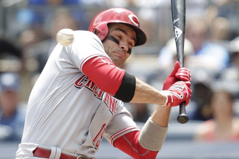 Cincinnati Reds' Joey Votto. Photo by John Angelillo/UPI
