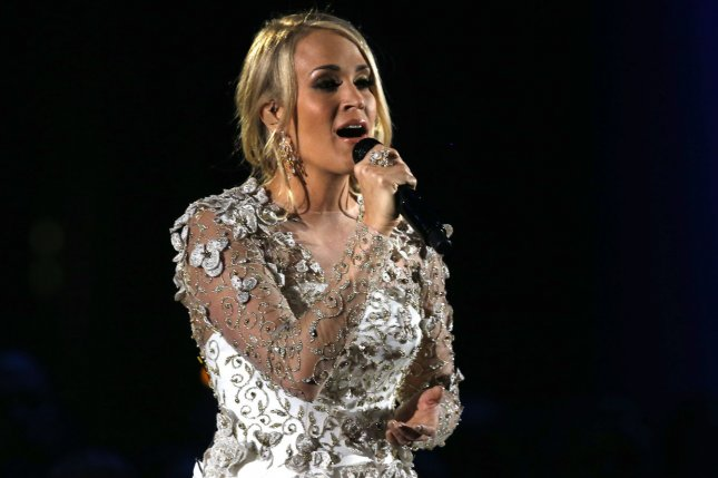 Carrie Underwood said she notices the scar from her injuries from a fall in 2017 more than others might. File Photo by John Sommers II/UPI