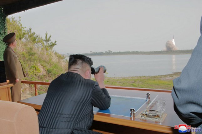 The Joint Chiefs of Staff in South Korea said two projectiles were fired from South Hwanghae province. File Photo courtesy KCNA