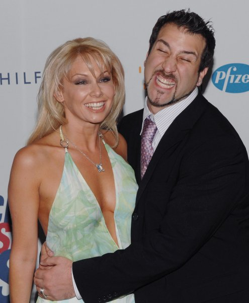 Joey Fatone and Kym Johnson arrives at the 13th annual Race to Erase MS in Los Angeles on April 13, 2007. The evening benefits The Nancy Davis Foundation for Multiple Sclerosis. (UPI Photo/Jim Ruymen)