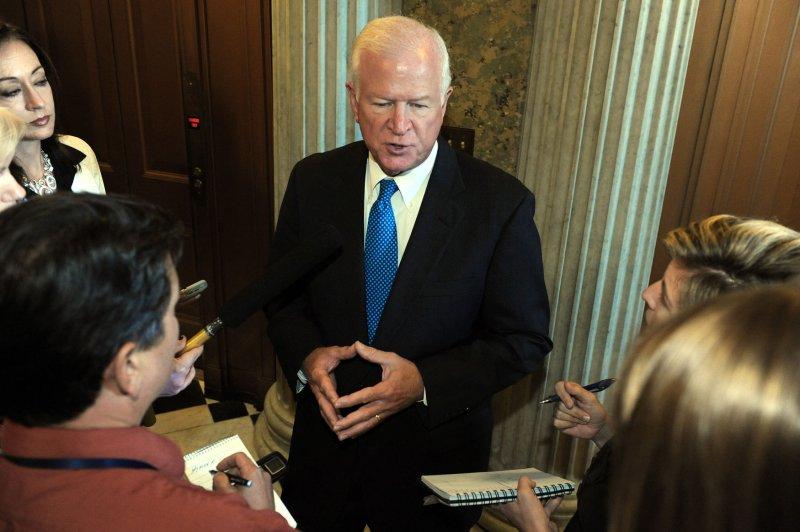 U.S. Sen. Saxby Chambliss, R-Ga., on Capitol Hill in Washington, July 21, 2009. (UPI Photo/Roger L. Wollenberg)