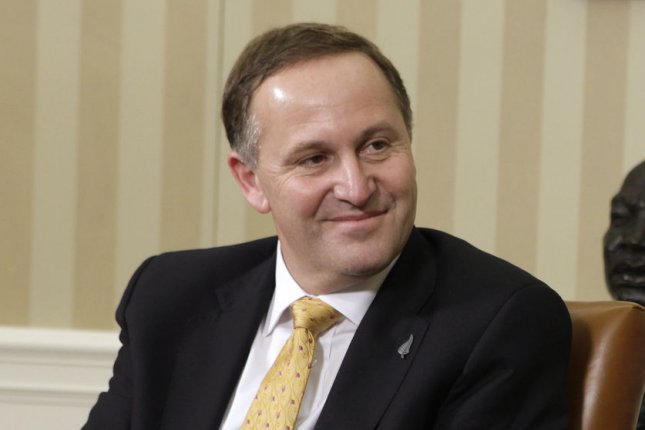 Prime Minister John Key of New Zealand in the Oval Office of the White House in Washington, DC, on July 22, 2011. (File/UPI/Yuri Gripas/POOL)