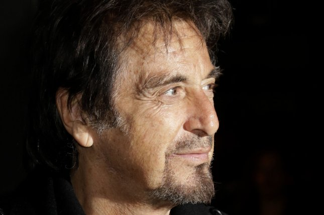 Al Pacino arrives on the red carpet at the 'Danny Collins' New York premiere on March 18, 2015. Photo by John Angelillo/UPI