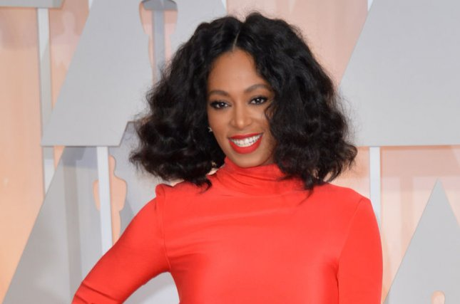 Solange Knowles arrives on the red carpet at the 87th Academy Awards on February 22, 2015. Knowles announced her new album, A Seat at the Table will be available for digital download on Sept. 30. File Photo by Kevin Dietsch/UPI