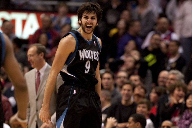 Ricky Rubio sank three free throws with 3.4 seconds left to lift the Timberwolves to a 115-114 victory over the Indiana Pacers on Tuesday night. The victory snapped a six-game losing streak for Minnesota (29-44). File Photo by Jon SooHoo/UPI
