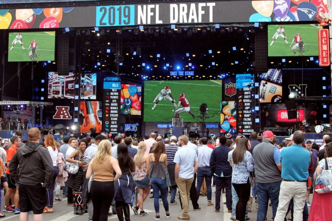 The 2019 NFL Draft wrapped up on Saturday in Nashville. Photo by John Sommers II/UPI