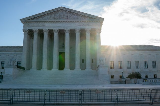 The U.S. Supreme Court Building on Monday invited the Biden administration to weigh in on a Harvard University admissions case. File Photo by Ken Cedeno/UPI