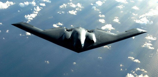 File photo of B-2 Spirit stealth bomber. (UPI Photo/Val Gempis/U.S. Air Force)