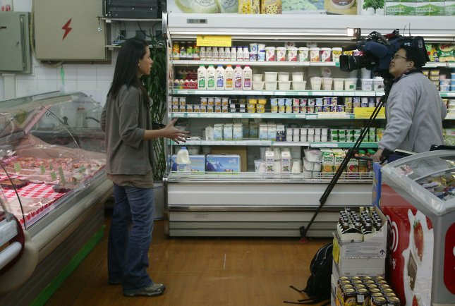 The look of grocery store aisles may change as retailers discover pairing certain items boosts sales, a Texas A&M University professor says. (UPI Photo/Stephen Shaver)