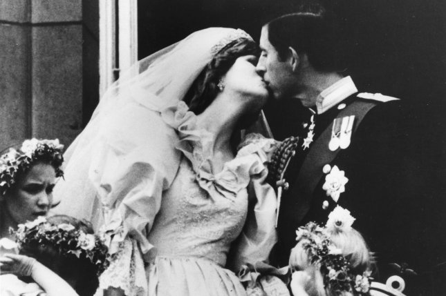 Prince Charles (R) and Princess Diana kiss after their wedding on July 17, 1981. Feud Season 2 will focus on the famous couple. File Photo by UPI