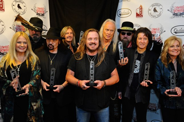 Lynyrd Skynyrd will embark on a final tour this summer with special guests such as Kid Rock, Hank Williams Jr. and Bad Company. File Photo by David Tulis/UPI
