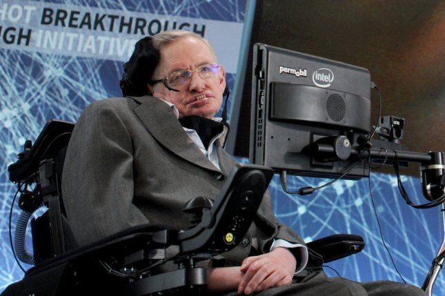 Astrophysicist Stephen Hawking died March 14 at age 76. He was diagnosed with ALS as a young adult. File Photo by Dennis Van Tine//UPI
