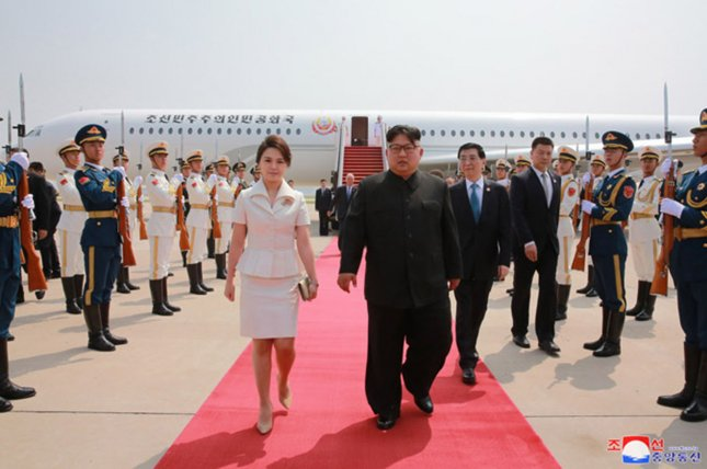 North Korea's Air Force One (rear) flew to Russia on Monday. File Photo by KCNA/UPI