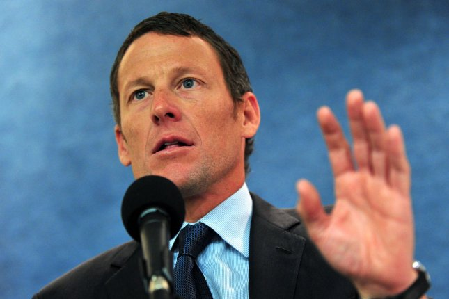 Former cyclist Lance Armstrong was stripped of his seven Tour de France titles in 2012. File photo by Kevin Dietsch/UPI
