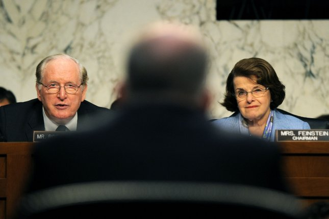 Senate Foreign Relations Chairwoman Sen. Dianne Feinstein (D-CA) (R) and ranking member Sen. John Rockefeller (D-WV) question CIA Director nominee John Brennan during his confirmation hearing in Washington, DC on February 7, 2013. (File/UPI/Kevin Dietsch)