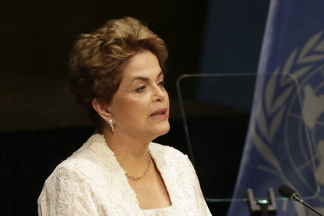 Suspended President of Brazil Dilma Rousseff announced she will not attend the opening ceremonies of the Rio Olympics next week because she refuses to sit next to interim president Michel Temer, who she accuses of framing her. Photo by John Angelillo/UPI