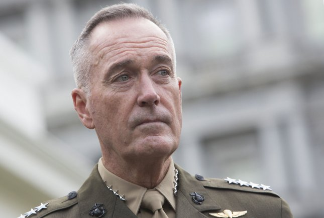 Joint Chiefs of Staff Chairman Gen. Joseph Dunford provided a timeline of the October 4 ambush that killed four U.S. soldiers during a Pentagon briefing on Monday. FilePhoto By Chris Kleponis/UPI