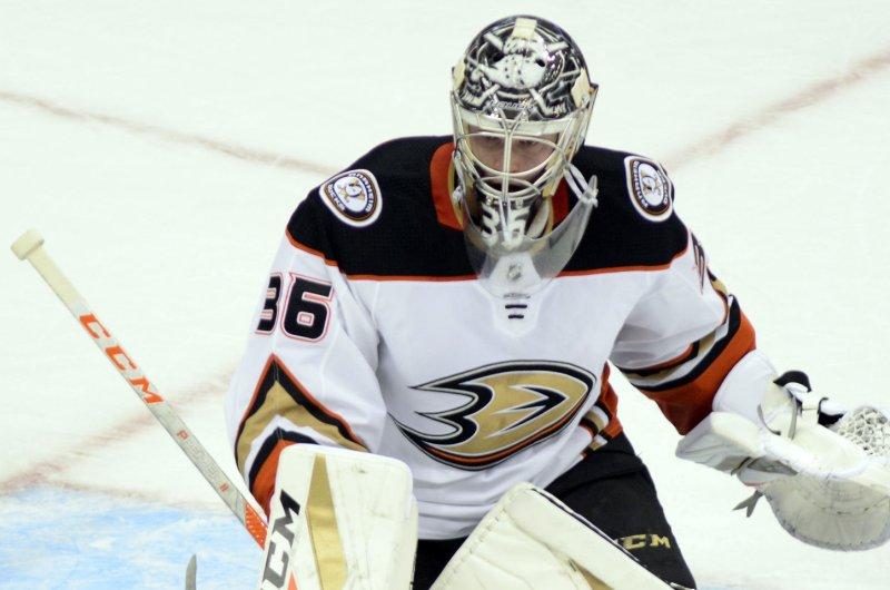 Anaheim Ducks ink goalie John Gibson to 8-year pact - UPI.com