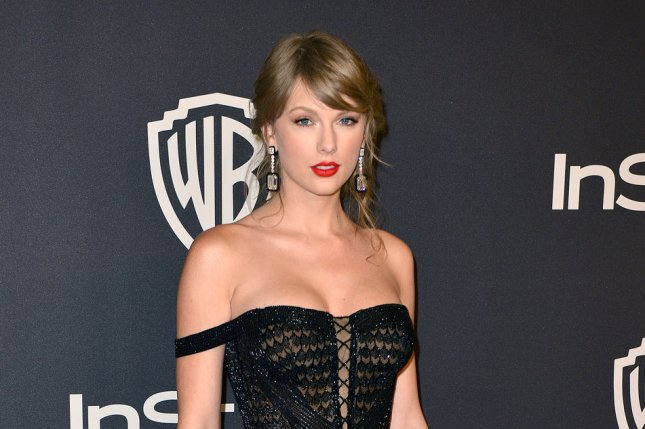 Taylor Swift shared a photo from the set of Tom Hooper's big-screen adaptation of the Andrew Lloyd Webber musical Cats. File Photo by Christine Chew/UPI