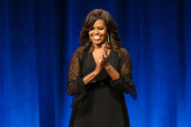 Former first lady Michelle Obama on Thursday launched a coalition of 31 mayors under her When We All Vote initiative, aimed at t increasing voter registration and civic engagement for the 2020 election amid the coronavirus pandemic, including advocating for online voter registration and mail-in voting. File Photo by Gary I Rothstein/UPI
