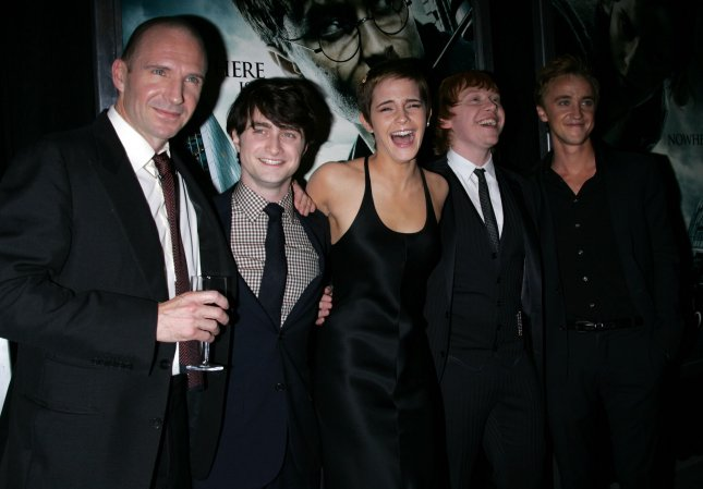 Ralph Fiennes, Daniel Radcliffe, Emma Watson, Rupert Grint and Tom Felton arrive for the premiere of Harry Potter and the Deathly Hallows Part I at Alice Tully Hall at Lincoln Center in New York on November 15, 2010. UPI /Laura Cavanaugh