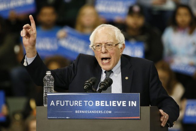 Democratic Presidential candidate Bernie Sanders speaks to supporters during rally at Emil and Patricia A. Jones Convocation Center at Chicago State University on February 25, 2016. Photo by Kamil Krzaczynski/UPI