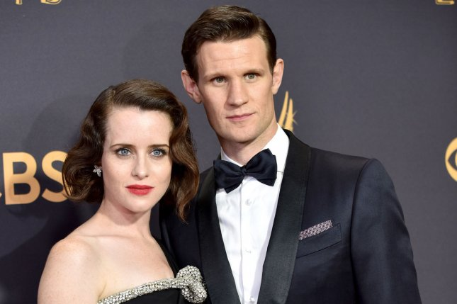 Claire Foy (L) and Matt Smith play Queen Elizabeth II and Prince Philip on The Crown. File Photo by Christine Chew/UPI