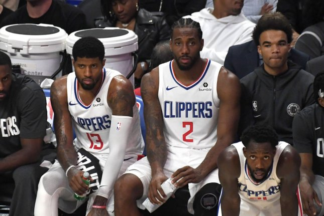 Los Angeles Clippers star Kawhi Leonard (2), a two-time Defensive Player of the Year and two-time NBA Finals MVP, is expected to join the team in a few days. File Photo by Jon SooHoo/UPI