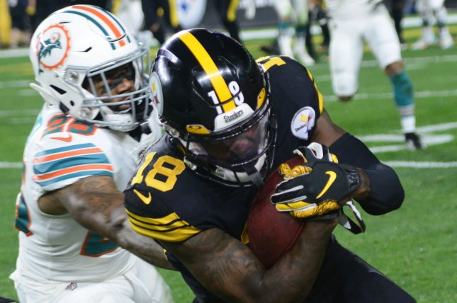 Miami Dolphins cornerback Xavien Howard (25) played only five games last season due to a knee injury. He notched 17 total tackles, one interception and four passes defensed in 2019. File Photo by Archie Carpenter/UPI