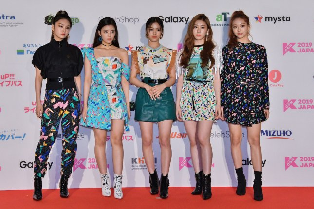 Itzy released a night version concept film featuring Yuna for their EP Guess Who. File Photo by Keizo Mori/UPI