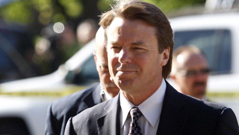 Former U.S. Sen. John Edwards arrives at federal court in Greensboro, N.C.,on April 24, 2012. UPI/Nell Redmond
