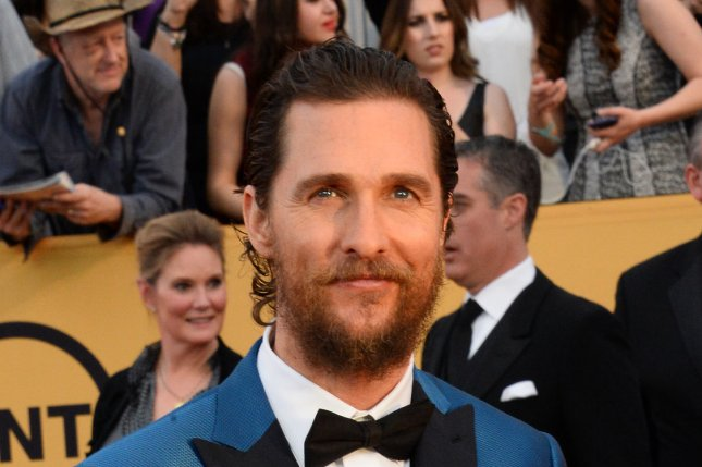 Actor Matthew McConaughey arrives for the 21st annual SAG Awards held at the Shrine Auditorium in Los Angeles on Jan. 25, 2015. Photo by Jim Ruymen/UPI