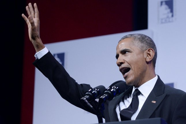 President Barack Obama addresses the Congressional Hispanic Caucus Institute's 38th Anniversary Awards Gala on Thursday at the Washington Convention Center in Washington, D.C. Pool photo by Olivier Douliery/UPI