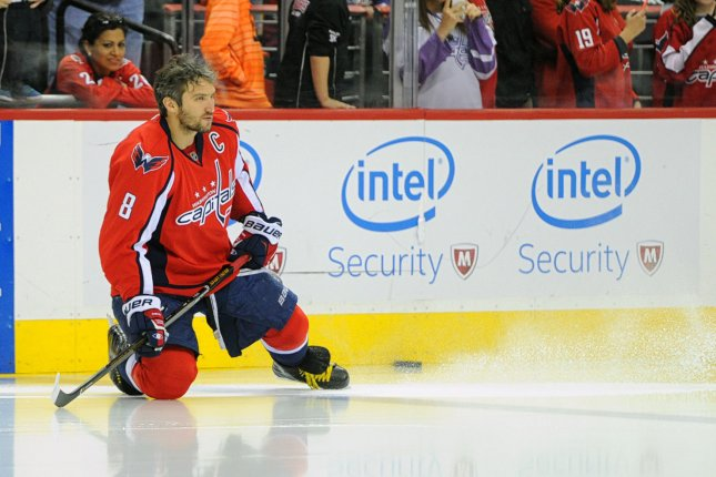 The NHL Eastern Conference playoff matchups are set and the Presidents' Trophy winning Washington Capitals and star Alexander Ovechkin hope to continue their success when they face the Philadelphia Flyers in a first round series. Photo by Mark Goldman/UPI