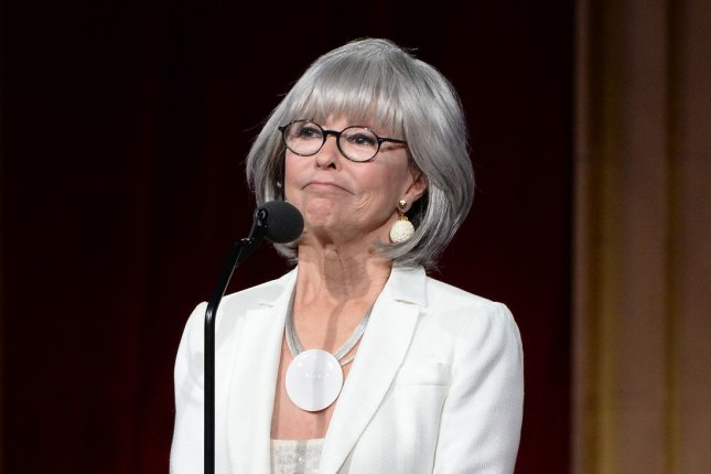 One Day at a Time actress Rita Moreno is seen at the 43rd annual Daytime Emmy Awards in Los Angeles on May 1. File Photo by Jim Ruymen/UPI