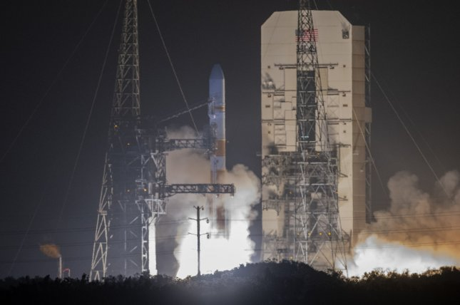 Cape Canaveral Air Force Station in Florida, from which this Delta IV rocket lifted off March 15, could become an integral part of the new Space Command. Photo by Joe Marino-Bill Cantrell/UPI