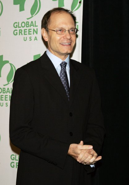 David Hyde Pierce arrives at the Global Green USA Sustainable Design Awards Gala in New York on December 10, 2008. The actor turns 60 on April 3. File Photo by Laura Cavanaugh/UPI