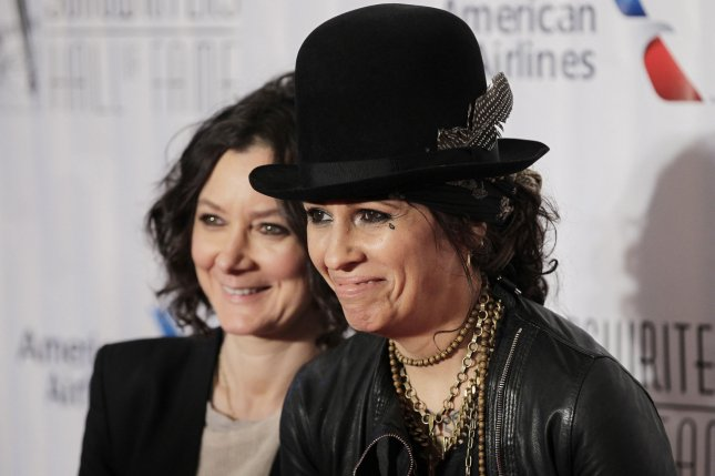 Celebrity couple Sara Gilbert and Linda Perry legally separated on Friday. File Photo by John Angelillo/UPI
